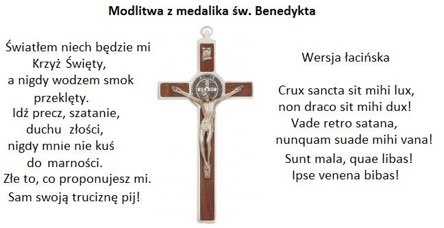 Medalik Św. Benedykta modlitwa