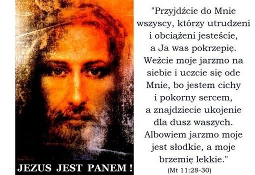 Jeżeli więc ustami swoimi wyznasz, że JEZUS JEST PANEM, i w sercu swoim uwierzysz, że Bóg Go wskrzesił z martwych - osiągniesz zbawienie. (Rz 10, 9).
