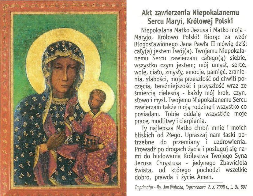 Akt Zawierzenia Matce Bożej
